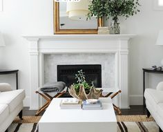 Screen shot from Rue Magazine's front cover - I would like our new mantel to look like this.