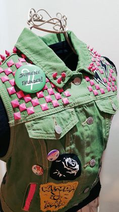 Sailor Jupiter Punk Studded Vest size Large by OutcastThreads