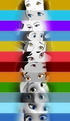 Yeah it's easy: Snow White, Cinderella, Aurora, Ariel, Belle, Jasmine, Mulan, Tiana, Rapunzel, Merida, Elsa, and Anna.