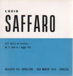 lucio Saffaro catalog shows del cavallino Venice 1963