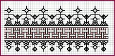 This embroidery pattern would make a great doodle.