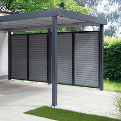 Siebau garage in anthracite While early inside concept, the particular pergola is having a bit Carport Sheds, Carport Plans, Carport Garage, Pergola Carport, Small Pergola, Pergola Swing, Deck With Pergola, Small Patio, Pergola Kits