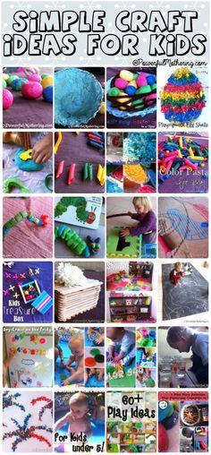 Simple Craft Activity Ideas for Kids #kidsactivities #simplecraftideas