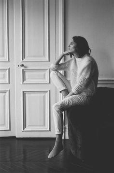 lagarconne-blog: From La Garçonne/The Interlude: Acne Studios Oxid Mohair Knit, Isabel Marant Ravena Pant