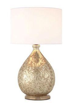 Teal crackle glass table lamp lights pinterest crackle glass small floral mercury glass table lamp aloadofball Images