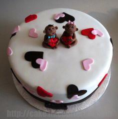 Valentine's Cake with Fondant Babies | Yelp
