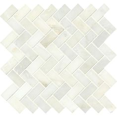 MS International Greecian White Herringbone Pattern 12 in. x 12 in. x 10 mm Polished Marble Mesh-Mounted Mosaic Tile (10 sq. ft. / case)