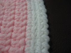Reverse Single Crochet Border for afghans - video tutorial on the page!