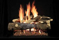 Empire Frontier Vented Gas Logs Frontier Vented Gas Log Sets install in a wood-burning fireplace to provide all the ambiance of a real wood fire, but without the work of hauling in logs, lighting the kindling, tending the fire, and hauling out the ash.