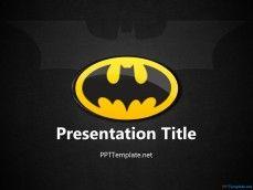 20068 - 배트맨 -와 - 로고 PPT 템플릿-1
