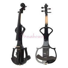 New High Quality 4/4 Full Size Black Electric Violin+Rosin+Bow+Case - $79.99 Violin Rosin, Bow Cases, Electric Violin, Black, Black People