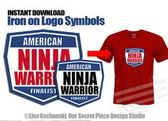 ██████████ AMERICAN NINJA WARRIOR LOGO SYMBOLS ✦ INSTANT DOWNLOAD (Digital Art that You Download & Print Yourself) ✦ 5 INCHES WIDE ✦ PRINTS ON 8-1/2 x 11 PAPER So many creative uses: * T-Shirts * Party Decorations * Sleepover * Labels * Gift Bag Tags ██████████ H O W . I T . W O R K S: 1/ INSTANTLY DOWNLOAD THE DIGITAL LOGO SYMBOLS After payment has been confirmed follow the link to your Etsy Download page (or find it on your Etsy Purchases page). Please note: I recommend working on a ...