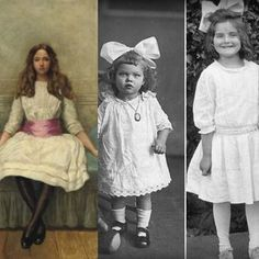 Children's Fashion of 1912- Children at this time still dressed very similar to their parents. One exception would be that the girls dresses were shorter than their mothers.