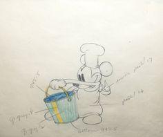 Walt Disney Desenho de Produção de Trailer do Mickey Apresentando Mickey Mouse | eBay