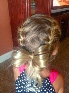 Hair style: Ravyns braided hair! Cute little girl hair style :)