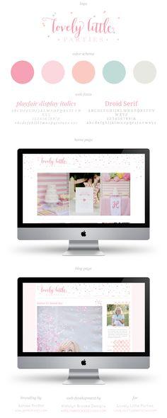 Site launch for Lovely Little Parties, branding by Ashlee Proffitt, web development by Katelyn Brooke Designs || katelynbrookeblog.com