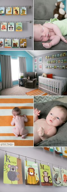Children photographer, Kansas city portraits, Baby room, stripe rug, chevron pattern #Jana Marie Photography