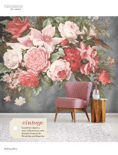 ReadlyGo Red Wallpaper, Custom Wallpaper, Bathroom Wallpaper, Print Wallpaper, Beautiful Wallpaper, Magnolia Wallpaper, Flower Mural, Vintage Walls, Rosario