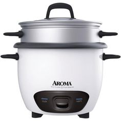 Aroma - 14 Cup Pot Style Rice Cooker & Steamer - Take the guesswork out of making rice with this ARC-747-1NG rice cooker and food steamer from Aroma. It automatically switches to warming mode when cooking is finished, keeping food warm until ready to serve. You can even cook jambalayas, soups and stews! The break-resistant tempered glass lid allows you to monitor rice without releasing steam, so your food is cooked to perfection every time. And the nonstick inner pot makes cleanup a breeze.