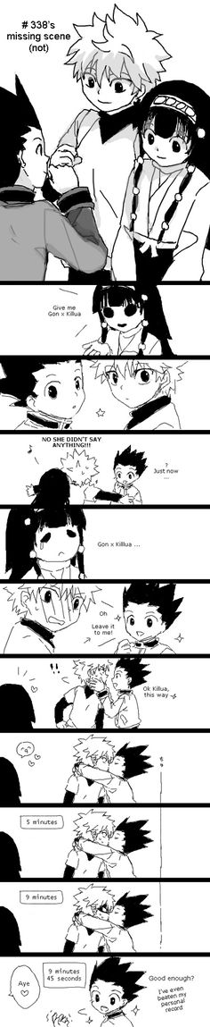 Hunter x Hunter - umm can Killua hold his breathe that long? Hunter X Hunter, Hunter Anime, Gon Killua, Hisoka, Gravity Falls Crossover, Squid Girl, Seven Deadly Sins Anime, Another Anime, Cartoon Memes