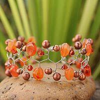 Orange Glam from @NOVICA, They help #artisans succeed worldwide.