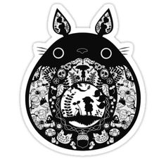 """【12500+ views】Totoro"" Stickers by Ruo7in 