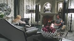 Evil Queen Regina's office in the real world: love the deco. From 'Once Upon a Time'