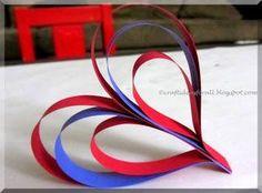 Valentine's day Paper strips Heart Craft Tutorial