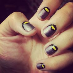 It's been a while, wanted to use my new yellow color. So thought this little number up, simple, but I liked creating it :)  Nail art, opi, nail polish, nail art
