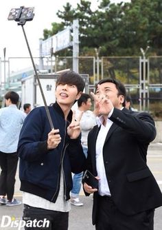 Selfie with #madongseok #parkhaejin #badguys