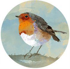 Freebie: little robin printable   Kleines Rotkehlchen Print