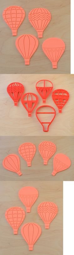 Cookie Cutters 32884: Hot Air Balloon 5 Pieces - Cookie Cutter And Stamps Set - 3D Printed Plastic -> BUY IT NOW ONLY: $30 on eBay!