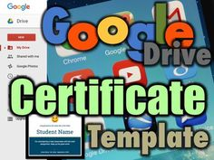 Google has developed a series of Education Templates to use with Docs, Sheets, Slides and Forms Teachers and Students can use these layouts to help them quickly create beautiful educational documentsUse this template to create Certificates for your studentsIt consists of a title, picture, student name, a short description, school name, teachers name and date.