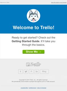 Welcome to Trello! - Really Good Emails