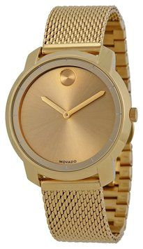 Movado Bold Gold Dial Gold Ion-Plated Mesh Watch 3600242. Get the lowest price on Movado Bold Gold Dial Gold Ion-Plated Mesh Watch 3600242 and other fabulous designer clothing and accessories! Shop Tradesy now