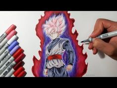 How To Draw Goku Black SUPER SAIYAN ROSE - Tutorial - YouTube