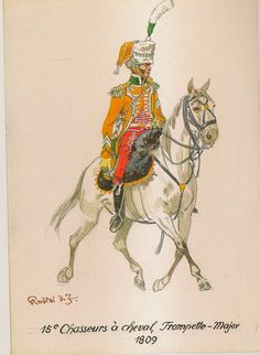 French; 15th Chasseurs a Cheval, Trumpet Major, 1809