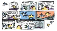 Viver é perigoso. via @laerteCoutinho1 #tirinha #quadrinhos
