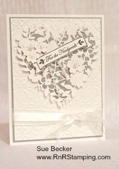 RnR Stamping: Bloomin' Hearts Wedding card