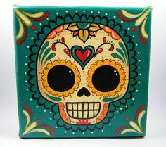 Sugar Skull Canvas Painting