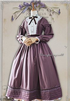 Surface Spell -The Rose Given by God- Vintage Victorian Style Lolita OP Dress,Lolita Dresses, Kawaii Fashion, Lolita Fashion, Cute Fashion, T Dress, Lolita Dress, Vintage Dresses, Vintage Outfits, Mode Lolita, Mode Alternative