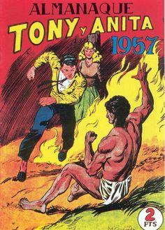 Tebeos- Tony y Anita - Los Ases del Circo, Almanaque 1957