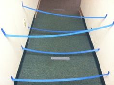masking tape obstacle course