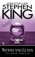 Wizard & Glass  by Stephen King:  CHAPTER I BENEATH THE DEMON MOON (I) 1 The town of Candleton was a poisoned and irradiated ruin, but not dead; after all the centuries it still twitched with tenebrous life-trundling beetles the size of turtles, birds that looked like small, misshapen dragonlets, a...