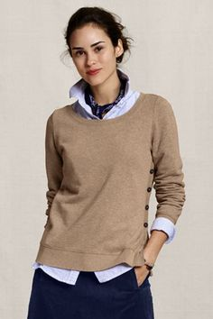 Lands End Canvas side button sweatshirt. So soft & comfortable and stylish!