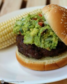 This Pepper Jack Guacamole Burger recipe is the perfect kickoff to summer grilling season!