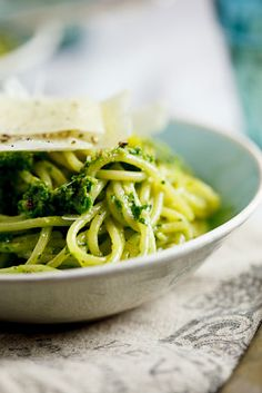 I made a version of this tonight for my dinner.  Had everything, but the rocket??? Oh my, so delicious.  Spaghetti with rocket, spinach & pecan pesto