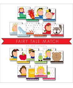 Free Fairy Tale Match Up. Fun for a rainy afternoon or as a follow up to a story. Nursery Rhymes Preschool, Preschool Classroom, Kindergarten, Fairy Tale Theme, Fairy Tales, Tot School, School Kids, School Stuff, Memory Games