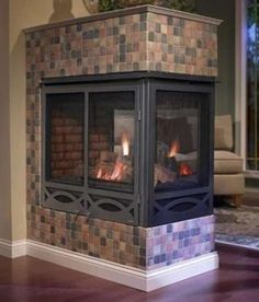Hottest Free Gas Fireplace update Ideas Almost as much as all of us criticize regarding winter weather in New york, there are a few upsides Fireplace Update, Open Fireplace, Fireplace Remodel, Fireplace Inserts, Fireplace Ideas, High Heat Paint, Modern Executive Desk, Free Gas, Blue Flames