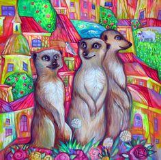 Lettres suricats by oxana zaika   ArtWanted.com